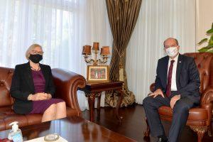 KKTC Cumhurbaşkanı Ersin Tatar, Spehar ile görüştü