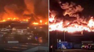 İngiltere'de go-kart pistinde dev yangın