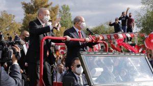 TC Cumhurbaşkanı Recep Tayyip Erdoğan KKTC'de