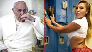 Papa'nın hesabından Brezilyalı modelin bikinili fotoğrafı beğenildi