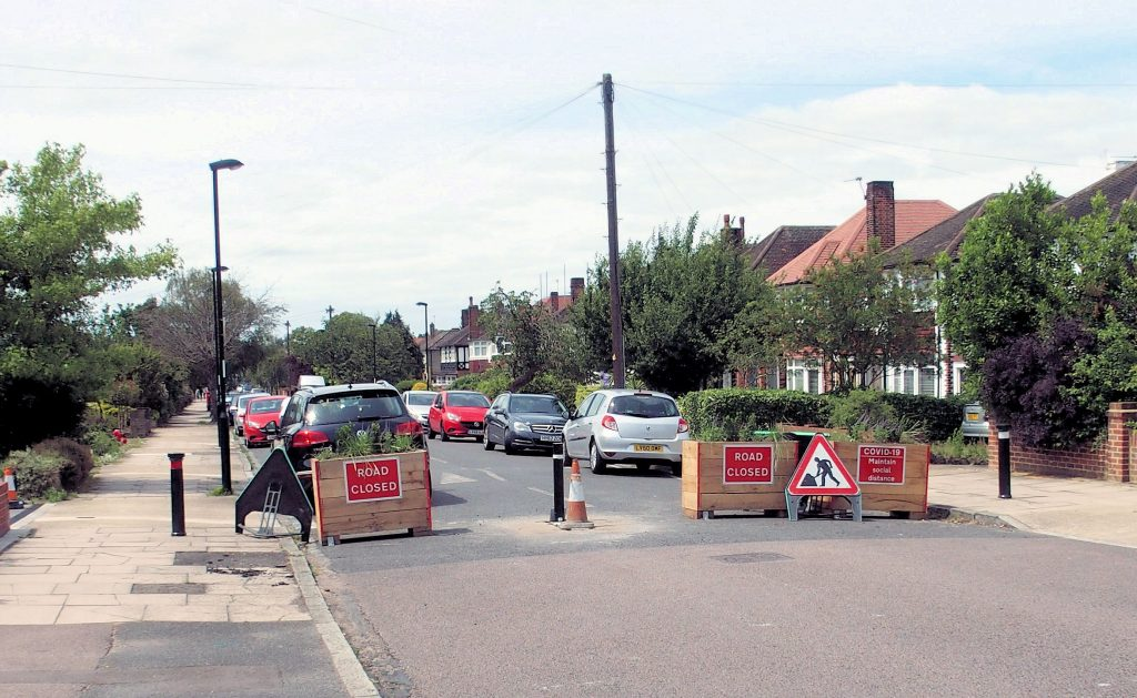 Legal action launched against road-blocking measures in Croydon