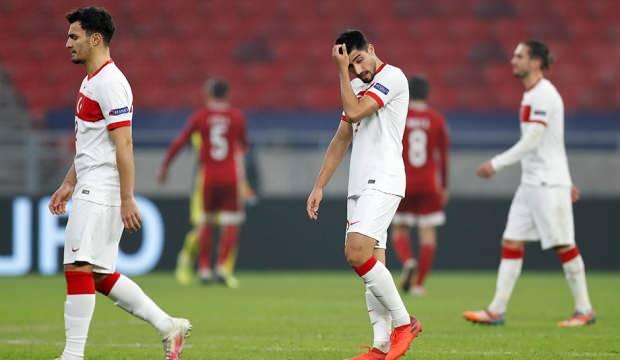 Türkiye, Macaristan'a 2-0 yenilerek bir alt lige düştü