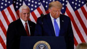 Trump ve Pence, baskınının ardından ilk kez bir araya geldi