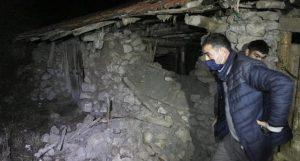 Ankara'nın Kalecik ilçesindeki depremin ardından bazı evlerde çatlaklar oluştu
