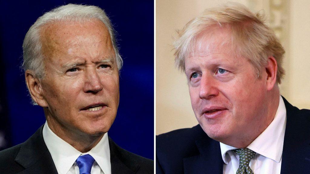 """Johnson'dan Biden'a tebrik: """"Başkan Biden ile çalışmayı heyecanla bekliyorum"""""""