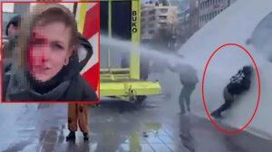 Hollanda'daki korona protestolarında kan donduran görüntü
