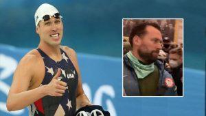 Altın madalyalı olimpik yüzücünün, Kongre baskınında görüntülendi
