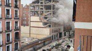 İspanya'nın başkenti Madrid'in merkezinde şiddetli bir patlama meydana geldi