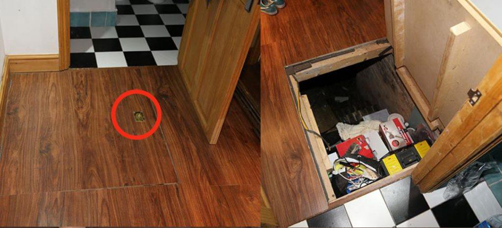 Evdeki gizli kapıyı açan genç adam dehşete düştü