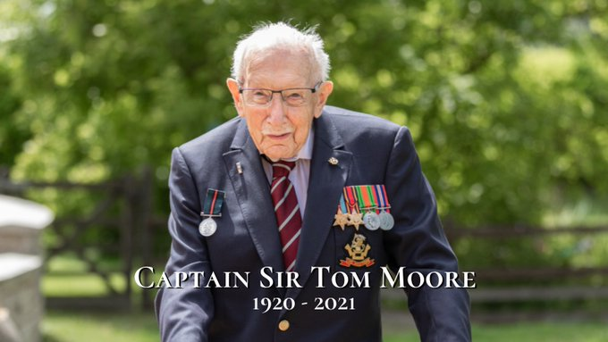 100-year-old Caption Tom Moores raised £33m for the NHS, dies from Coronavirus