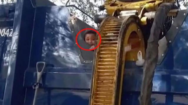 Çöp konteynerine saklanan çocuk ölümden döndü