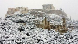 Yunanistan'da son 12 yılın en sert kışı