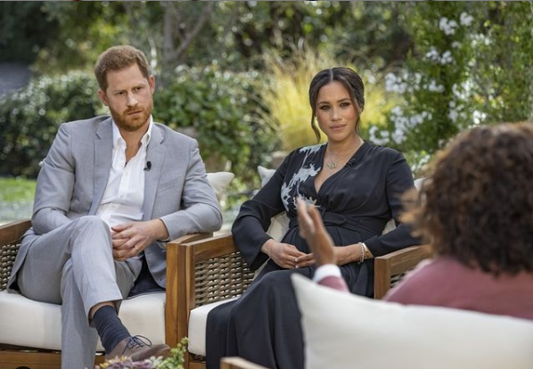 """Meghan Markle tells Oprah she felt suicidal and family member asked """"how dark"""" their son would be"""
