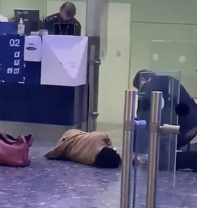 Passenger collapses as travellers face Border Force queues 'up to six hours' at Heathrow