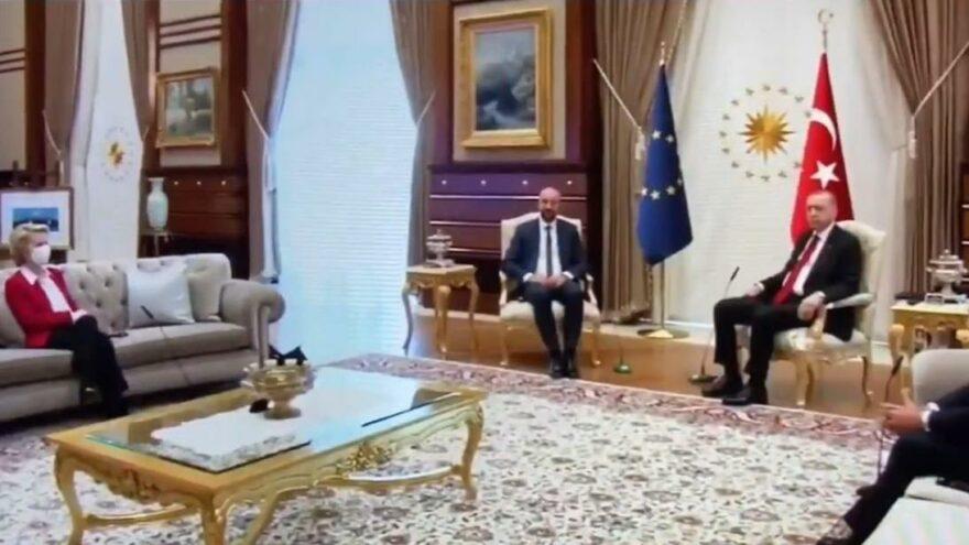 Bild: Erdoğan yanına almadı, AB liderini üçlü koltuğa oturttu