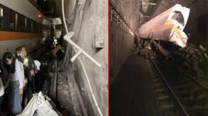 Tayvan'da tren raydan çıktı: 36 ölü, 72 yaralı