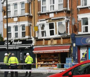 Hertford Road closed after building 'collapses into the street'