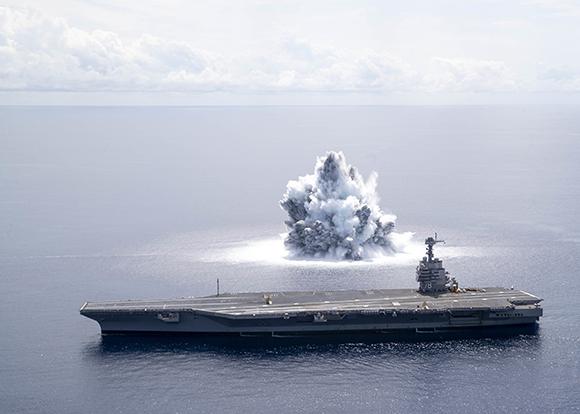 ABD Atlantik Okyanusu'nda 18 tonluk bomba patlattı