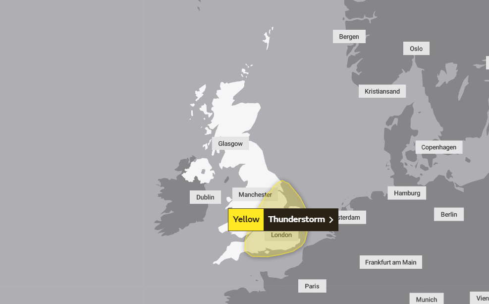 Brits warned to enjoy the sunshine before thunderstorms roll in
