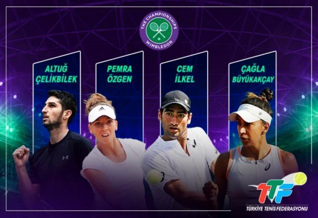 Wimbledon elemelerinde 4 Türk tenişçi mücadele edecek