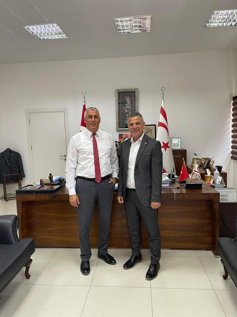 Ercen, KKTC Eğitim Bakanı ile görüştü