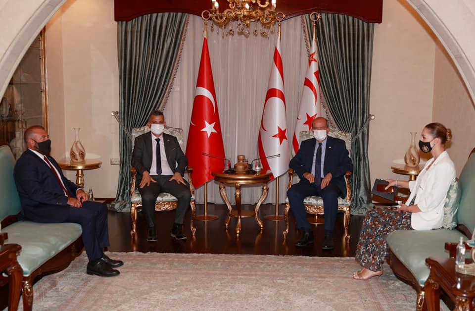 Ercen, KKTC Cumhurbaşkanı Tatar ile görüştü