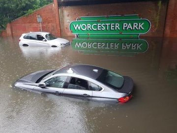 Parts of London hit with 50cm of rain, as hospitals close and stations flood
