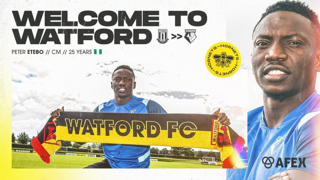 Etebo Watford'a transfer oldu