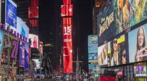 Times Meydanı'nda 15 Temmuz: Türkiye Geçilmez