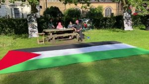 İngiltere'de Filistin'e bisikletli destek