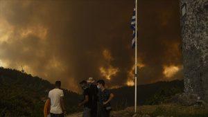 Yunanistan'da yangın söndürme çalışmalarına katılan uçak düştü