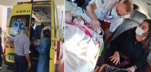SMA hastası Asya bebek, Güney Kıbrıs'a ulaştı