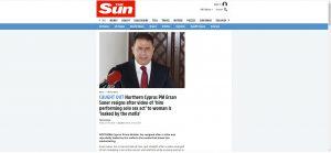 KKTC Başbakanı Ersan Saner 'The Sun' gazetesinde