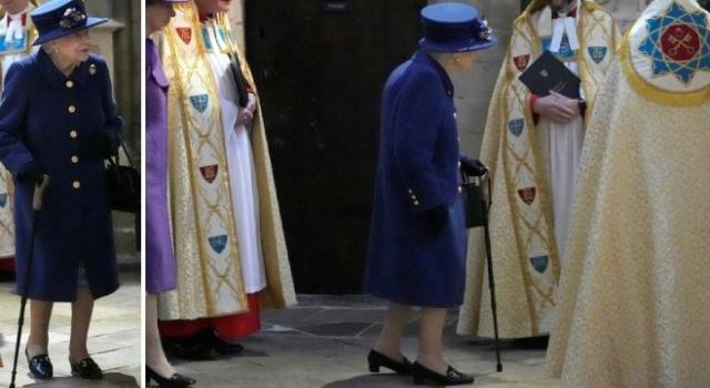 Kraliçe artık bastonlu